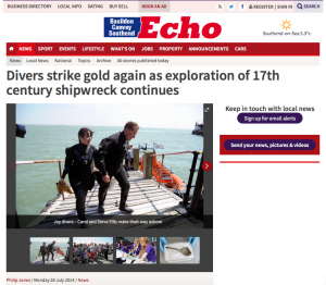 Southend Daily Echo, 28 July © Southend Echo