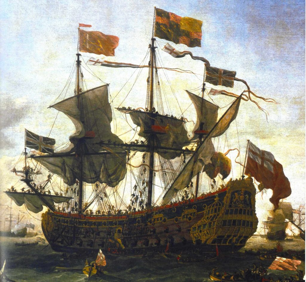 A royal visit to the fleet by Willem Van de Velde (1672) (in Davies 2008, 229)